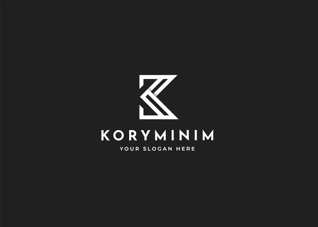 Modèle de conception de logo lettre k. illustrations vectorielles