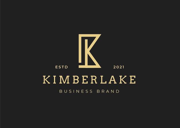 Modèle de conception de logo de lettre k initiale minimaliste, illustrations vectorielles