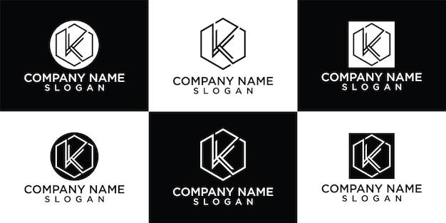 Modèle de conception de logo de lettre k initiale