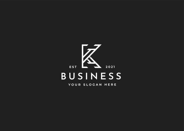 Modèle de conception de logo lettre k minimaliste. illustrations vectorielles