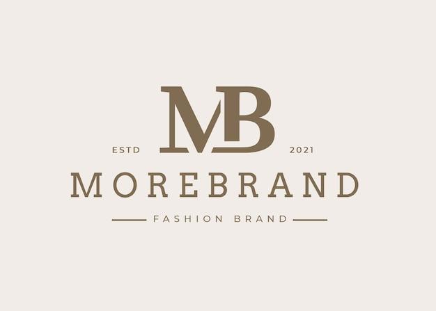 Modèle de conception de logo de lettre mb initiale minimaliste, illustrations vectorielles