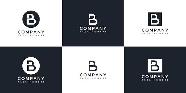 Modèle de conception de logo lettre monogramme