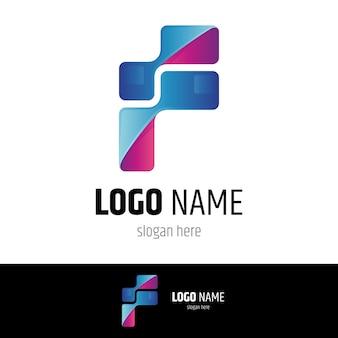 Modèle de conception de logo lettre pixel