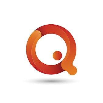 Modèle de conception de logo lettre q