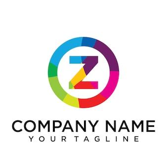 Modèle de conception de logo lettre t. signe créatif doublé coloré