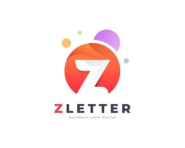 Modèle de conception de logo de lettre z premium coloré