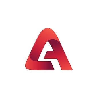 Modèle de conception de logo lettre a