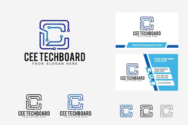 Modèle de conception de logo de lettre c