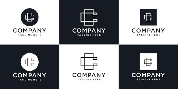 Modèle de conception de logo lettre c