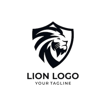 Modèle de conception de logo de lion
