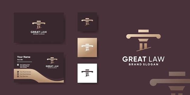 Modèle de conception de logo de loi avec un style créatif