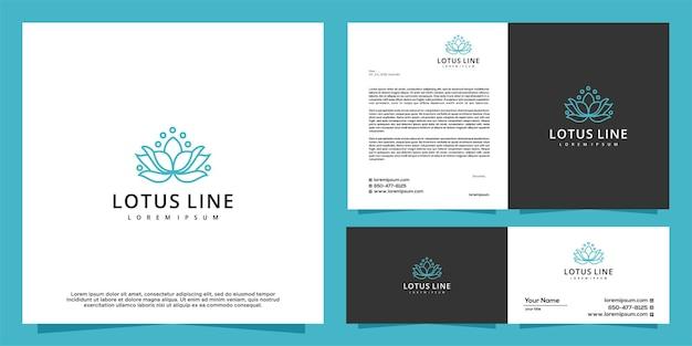 Modèle de conception de logo lotus