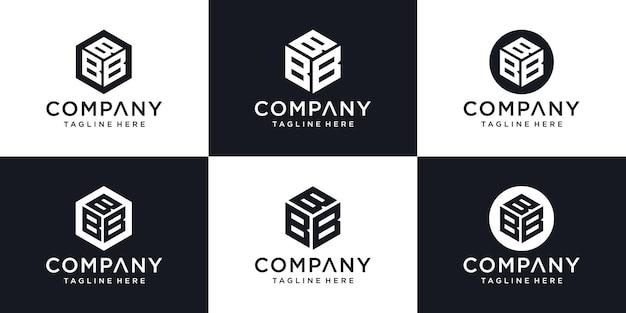 Modèle de conception de logo de luxe abstrait moderne lettre initiale b signe