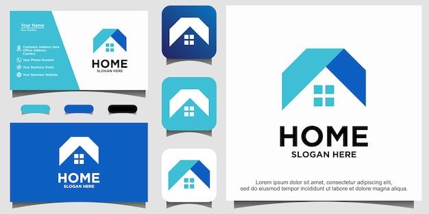 Modèle de conception de logo de luxe immobilier maison