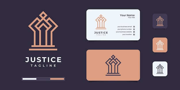 Modèle de conception de logo de luxe reine justice. le logo du cabinet d'avocats soit utilisé pour votre entreprise.