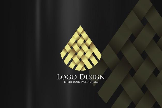 Modèle de conception de logo de luxe