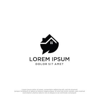 Modèle de conception de logo de maison de discussion