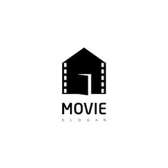 Modèle de conception de logo de maison de film