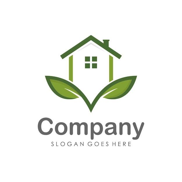Modèle de conception de logo maison et immobilier