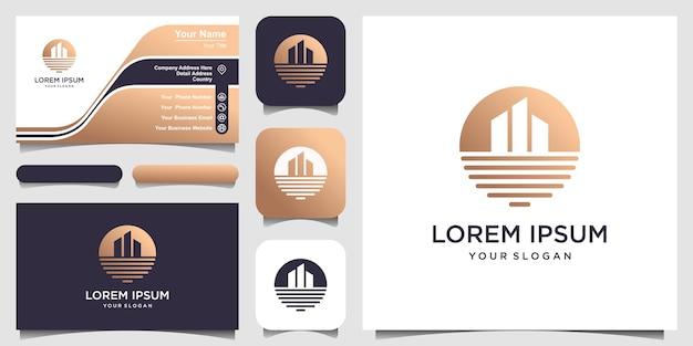 Modèle de conception de logo de maison de plage