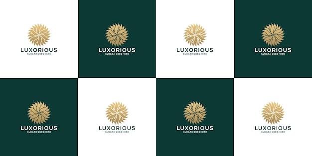 Modèle de conception de logo de mandala d'ornement de fleur de paquet