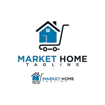 Modèle de conception de logo de marché domestique