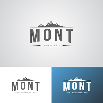 Modèle de conception de logo de marque creative mont adventure