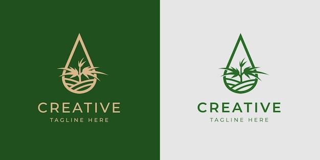 Modèle de conception de logo médical d'huile de cannabis