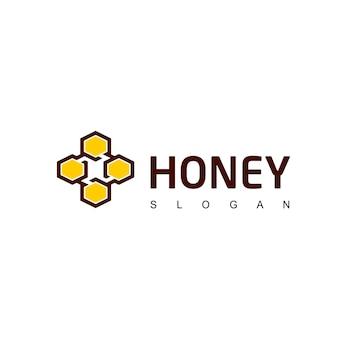 Modèle de conception de logo de miel