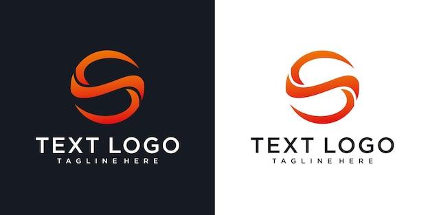 Modèle de conception de logo minimal abstrait lettre initiale s