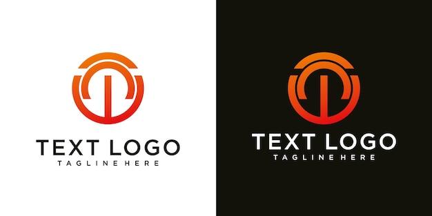 Modèle de conception de logo minimal abstrait lettre initiale w