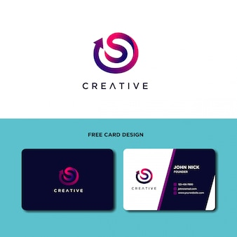 Modèle de conception de logo moderne lettre s