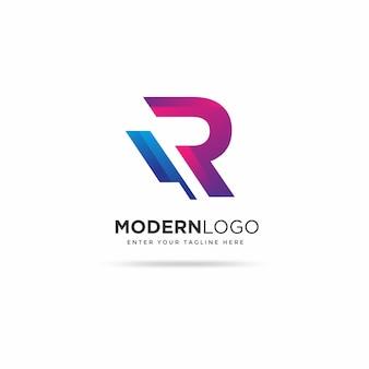 Modèle de conception de logo moderne r
