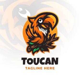 Modèle De Conception De Logo Moderne Toucan Vecteur Premium