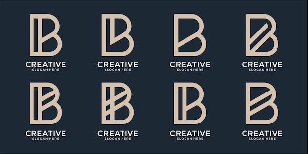 Modèle de conception de logo monogramme inspirant lettre b
