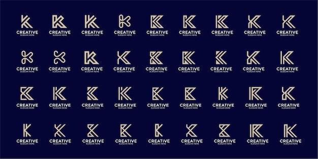 Modèle de conception de logo monogramme inspirant lettre k