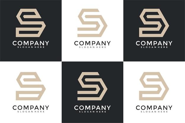 Modèle de conception de logo monogramme inspirant lettre s