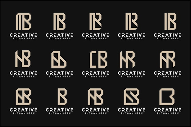 Modèle de conception de logo monogramme inspirant