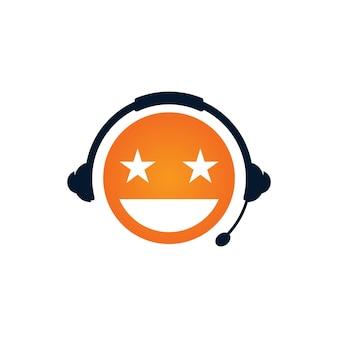 Modèle de conception de logo de motivation de podcast