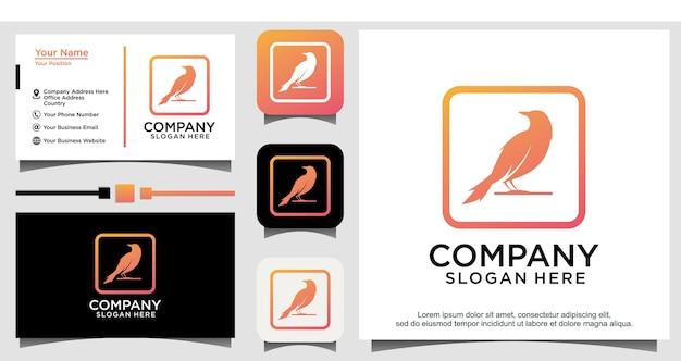 Modèle de conception de logo nature colombe