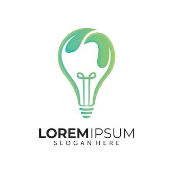 Modèle de conception de logo nature idea