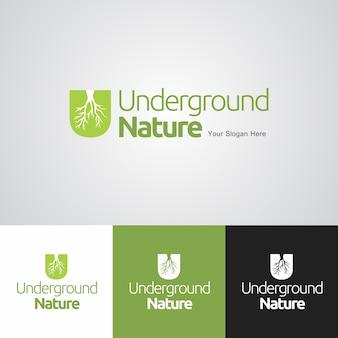 Modèle de conception de logo de la nature souterraine
