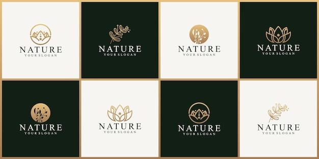 Modèle de conception de logo nature