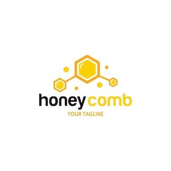 Modèle de conception de logo en nid d'abeille