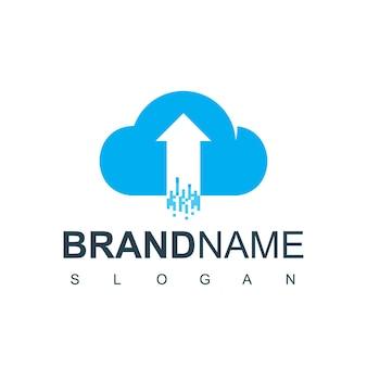 Modèle de conception de logo de nuage. serveur, vecteur de conception d'icône de société de base de données