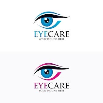 Modèle de conception de logo oeil