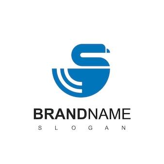 Modèle de conception de logo d'oie