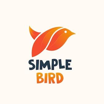 Modèle de conception de logo oiseau abstrait