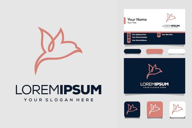 Modèle de conception de logo d'oiseau et carte de visite