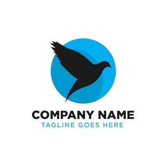 Modèle de conception de logo d'oiseau